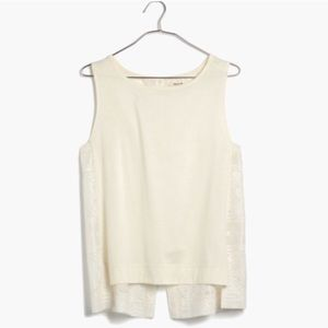 Madewell cotton and silk embroidered tank